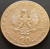 Moneda 20 ZLOTI - POLONIA, anul 1975  *cod 5046 - MARCELI NOWOTCO