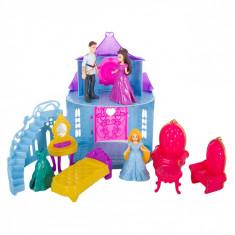 Castel de papusi cu sunete si lumini, 53x10x26.5 cm,3 figurine