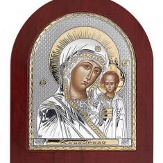 Cumpara ieftin Icoana argintata Maica Domnului Kazan 8.5x10 cm Cod Produs 1390