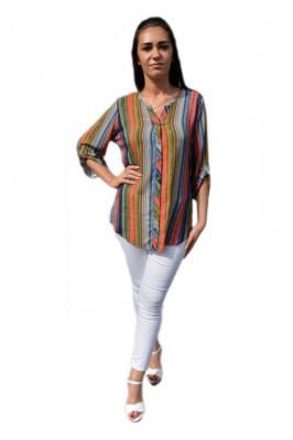 Bluza cu maneca trei sferturi, culoare bleumarin foto