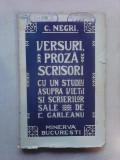 Versuri , proza , scrisori - C. NEGRI , 1909