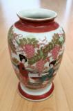 Vaza - portelan Japonia - coaja de ou - pictata manual
