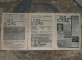 ziar Zig/Zag,red Ion Cristoiu anul I din 1990,3 nr,ziare dupa Revolutie anii 90