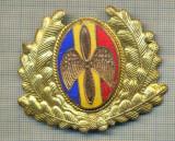 Y 1851 INSIGNA-MILITARA-EMBLEMA COIFURA- AVIATIE -PENTRU COLECTIONARI