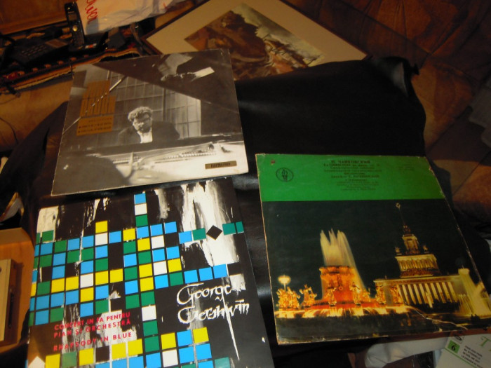 LOT de 3 discuri vinil muzica clasica: Beethoven, George Gershwin si Ceaikovski