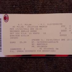 Bilet meci fotbal AC MILAN - ATLETICO MADRID (Europa League 19.02.2014)