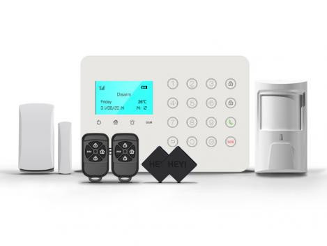 Sistem de alarma wireless, GSM, 2 zone, RFID