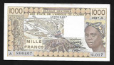 West African States- Ivory Coast 1000 Francs 1986 P107.A.g.