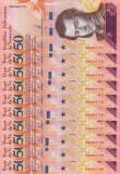 VENEZUELA lot 10 buc. X 50 bolivares 15 ianuarie 2018 UNC!!!