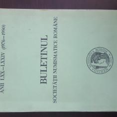 BULETINUL SOCIETATII NUMISMATICE ROMANE - ANII LXX-LXXIV - 1976-1980