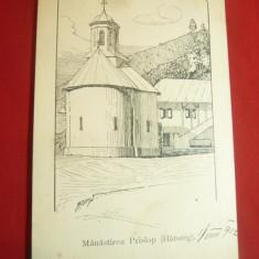 Ilustrata Manastirea Prislop 1912 - Piesa de autor
