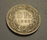 Elvetia 2 Franci 1963 UNC