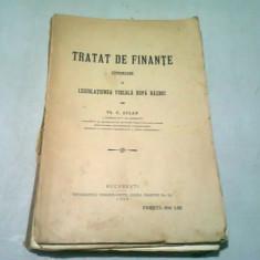 TRATAT DE FINANTE CUPRINZAND SI LEGISLATIUNEA FISCALA DUPA RAZBOI - TH.C. ASLAN