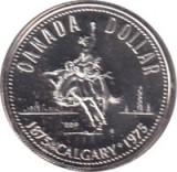 Canada 1 Dollar 1975 - (100 years Calgary) Argint 23.33g/500, Aoc1 KM-97 UNC !!!