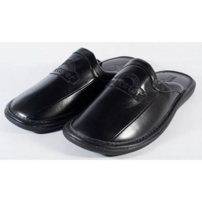 Papuci de casa negri pentru barbati/barbatesti (cod MS028) foto
