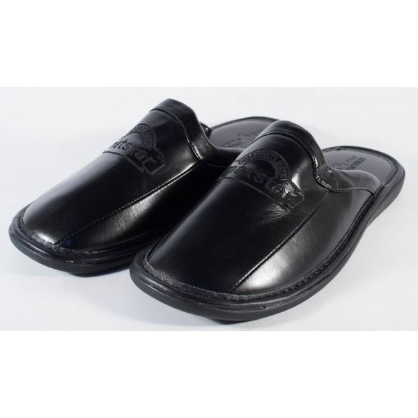 Papuci de casa negri pentru barbati/barbatesti (cod MS028)