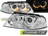 Faruri compatibile cu VW PASSAT 3BG B5 FL 09.00-03.05 ANGEL EYES Crom