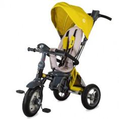 Tricicleta Multifunctionala 4in1 cu Sezut Reversibil Velo Air Galben, Coccolle