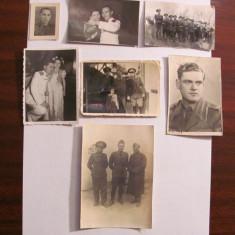 PVM - Lot 7 fotografii vechi militari / ofiteri romani