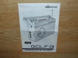 INSTRUCTIUNI DE FOLOSIRE RADIO GOLF