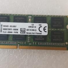 Memorie Kingston 8GB, DDR3, 1600MHz, SODIMM  - poze reale
