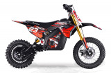 Motocicleta electrica Eco Tiger 1300W 14 12 48V 14Ah Lithiu ION Rosu
