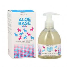 Sapun copii cu lapte de magarita Aloebase, 250ml - Bioearth