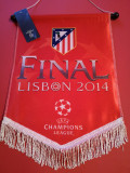 Fanion fotbal-ATLETICO MADRID-finala Champions League 2014 cu Real Madrid