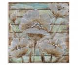 Tablou Flower in Time 80x80 cm - Mauro Ferretti, Gri & Argintiu