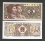 CHINA  1  JIAO  1980  UNC  [1] P- 881b , Seria : litera/ numar/ litera / 7 cifre