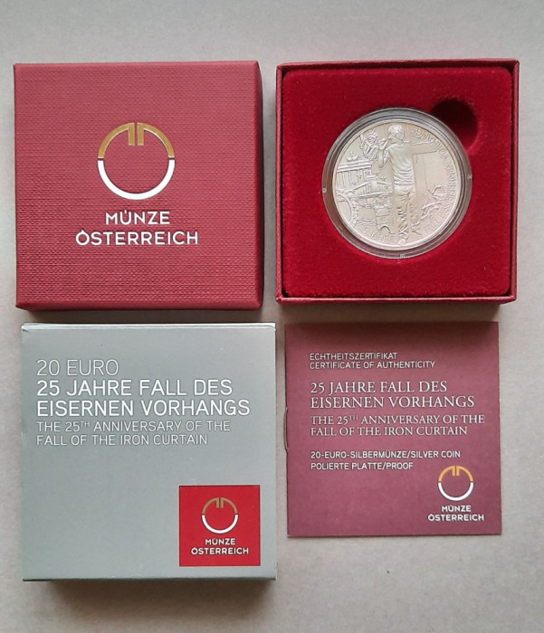 Moneda tematica de argint - 20 euro 2014, Austria - Proof