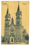 1163 - TIMISOARA, Church, Romania - old postcard - unused, Necirculata, Printata