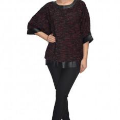 Bluza tricotata nuanta de negru cu insertii argintii, 38, 40, 42, 44, 46, 48, 50, 52