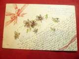 Ilustrata Flori- Gruss aus Bremen , poezie , circulat, Circulata, Printata