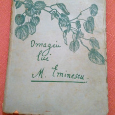 """Omagiu lui M. Eminescu. Editura ziarului ,,Universul"""", 1934 - Valerian Petrescu, Mihai Eminescu"""