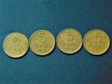 LOT MONEDE ROMANIA 5 BANI 1952,1954,1956,1957