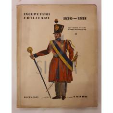 Emil Vartosu, Ion Vartosu si Horia Oprescu - INCEPUTURI EDILITARE Bucurestene ( 1830-1832) , 1936
