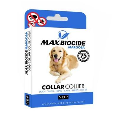 Zgarda antiparazitara pentru caini de talie mare Margosa, Max Biocide, 75 cm foto