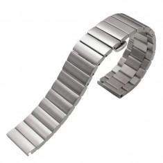 Curea metalica compatibila Huawei Watch GT, telescoape Quick Release, 17cm, Argintiu