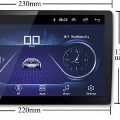 Casetofon 9 inch Dvd Mp3 Auto 1 Din USB Navigatie prin MirrorLink