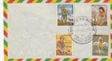 Bolivia 1970,Cercetasi,Plic timbrat cu seria