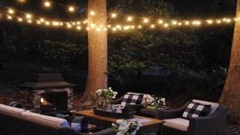 Ghirlanda Luminoasa de Exterior, lungime 1m, cu 3Bec/m, Glob Opac foto