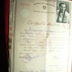 Diploma - Certificat de Absolvire 1952 Liceul Mixt de 11 Ani din Tulcea