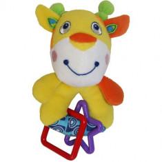 Jucarie din Plus cu Zornaitoare 12 cm Girafa
