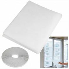 Plasa anti-insecte pentru usa, dimensiuni 60x200cm, banda montare, 2 bucati