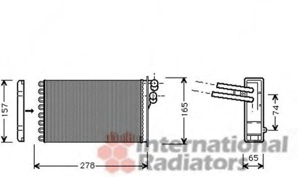 Radiator incalzire interior AUDI A4 (8D2, B5) (1994 - 2001) VAN WEZEL 03006156