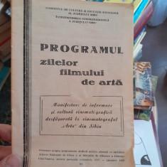 Programul zilelor fimului de arta. 1987-1989. Sibiu