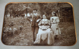 Fotografie veche de familie pe carton cu passepartout Germania, anii '30