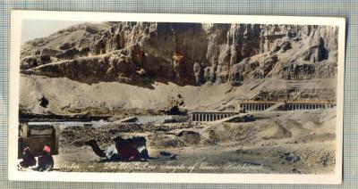 AD 593 C. P. VECHE - THEBES - DER EL BAHARI TEMPLE OF QUEEN HATSHEPSUT -EGYPT foto