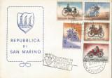 San Marino, Automobilele secolului al XIX-lea, FDC, 1962